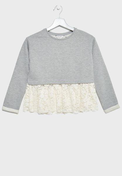 Teen Lace Detail Top