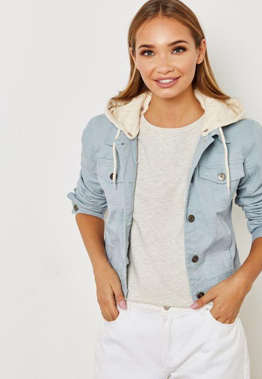 Detachable Hood Denim Jacket