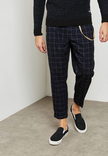 Ace Check Print Trousers