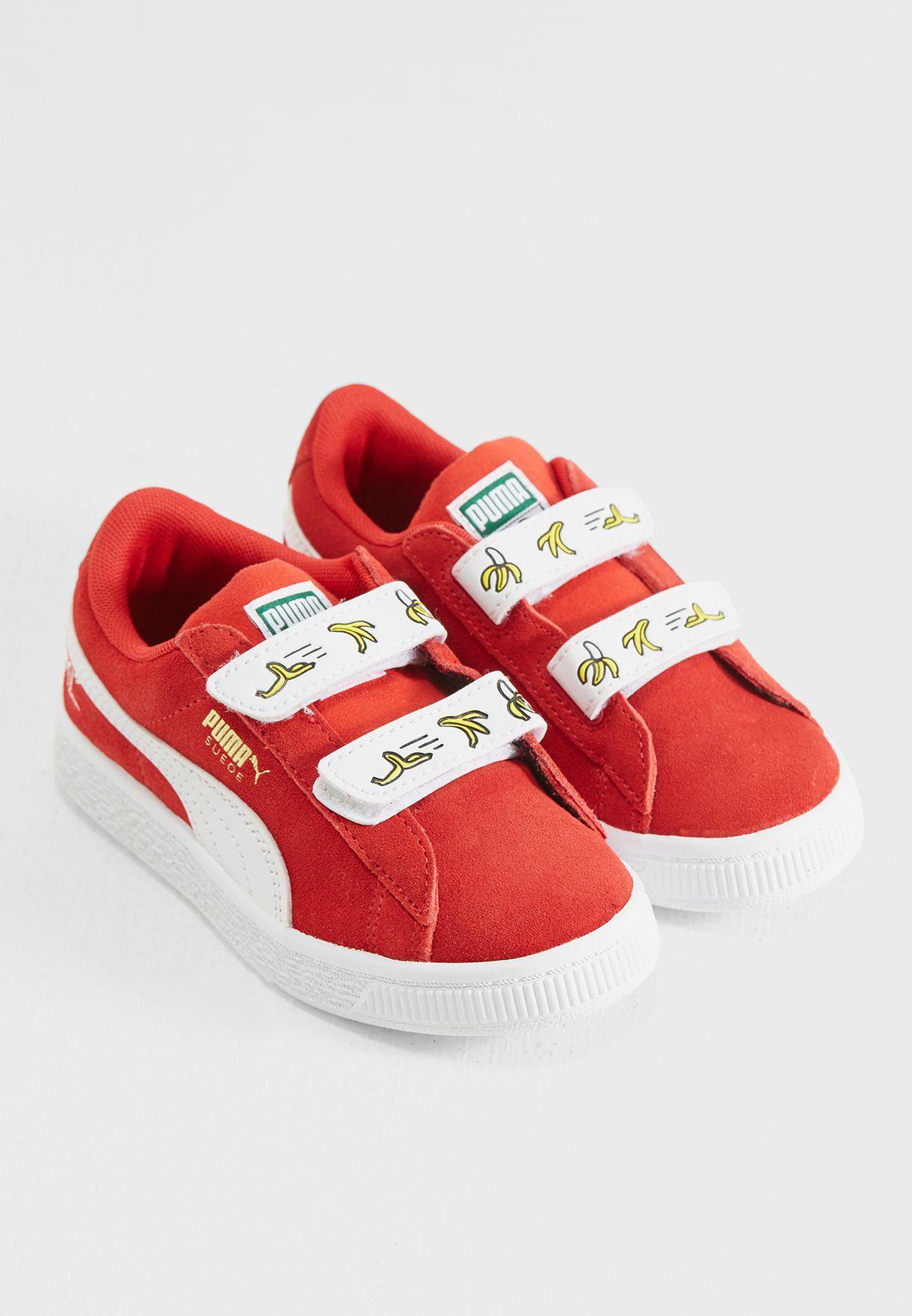 a684bc69c21977 Shop PUMA red Minions Suede V Kids 36552801 for Kids in UAE ...