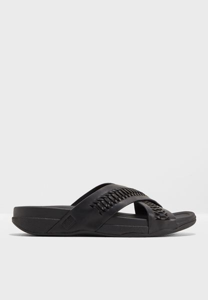Surfer Woven Leather Sandals