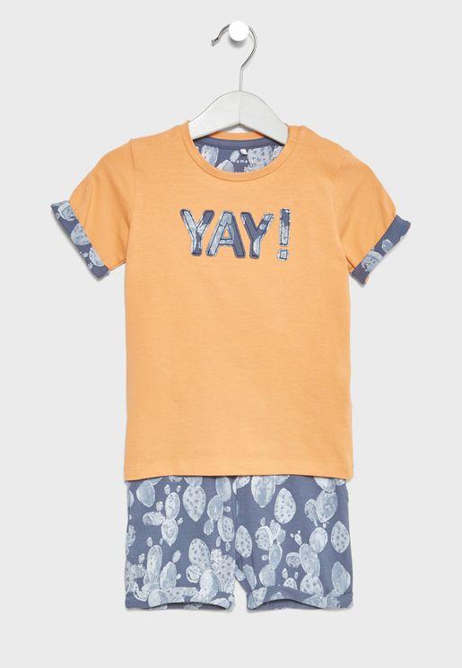Infant Shorts + T-Shirt Set