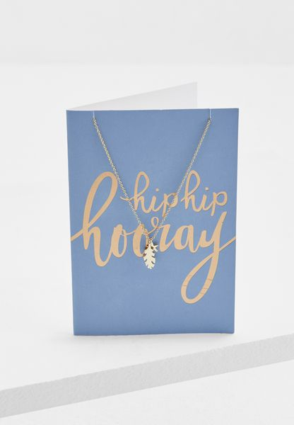 Hip Hip Hooray Necklace With Giftcard