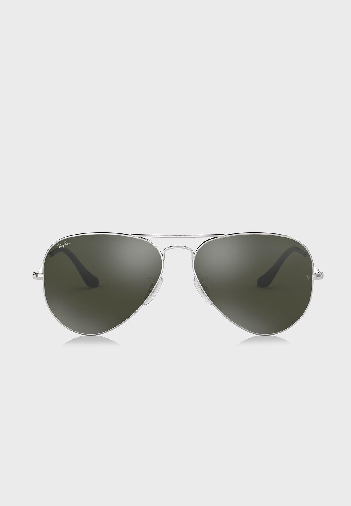 516e9d4b5 تسوق نظارة شمسية افياتور عاكسة ماركة ريبان لون فضي 805289005612 في ...