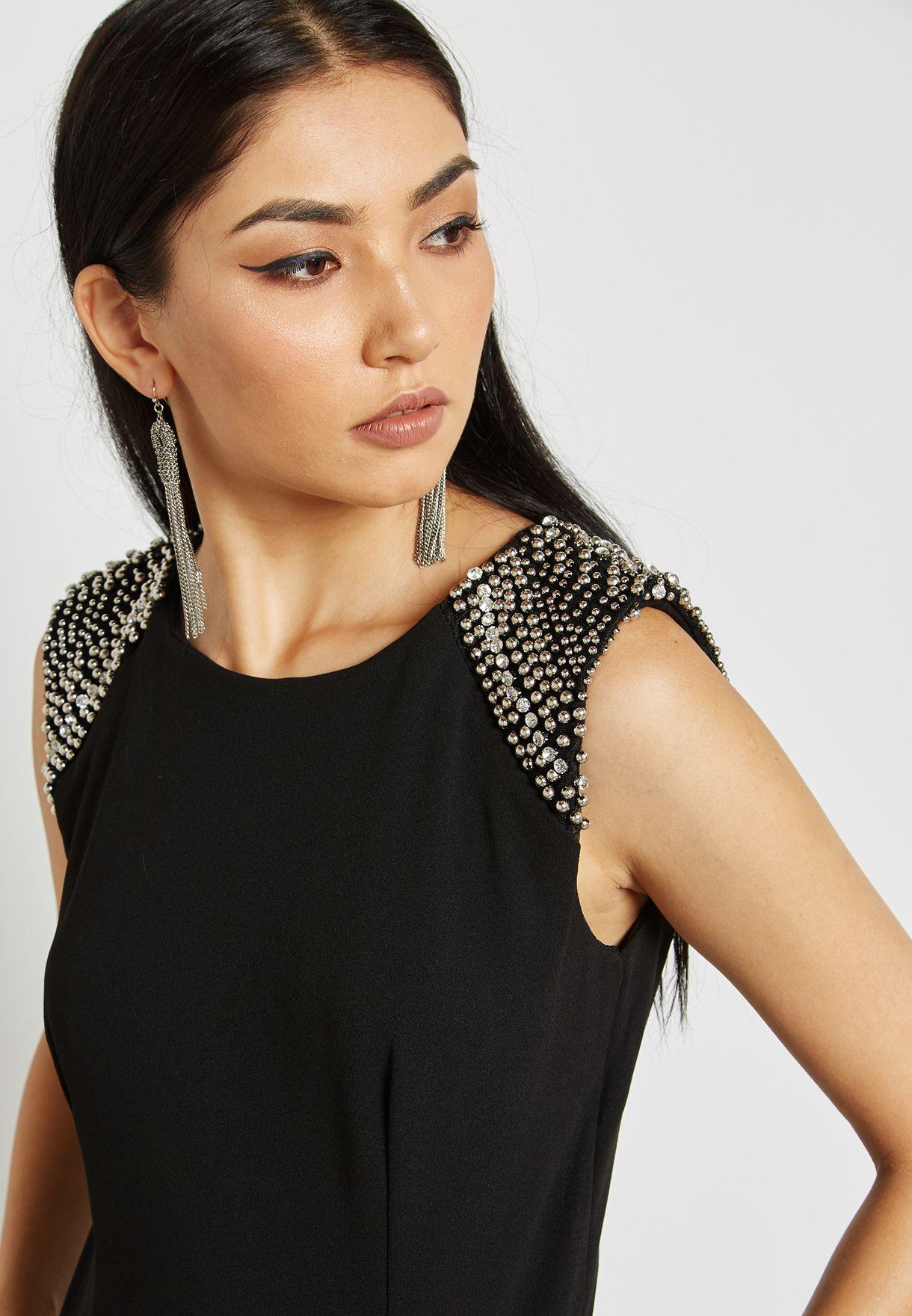 Shoulder Embellished Detail Jumpsuit