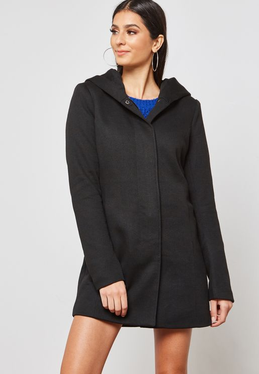 Long Line Hooded Coat