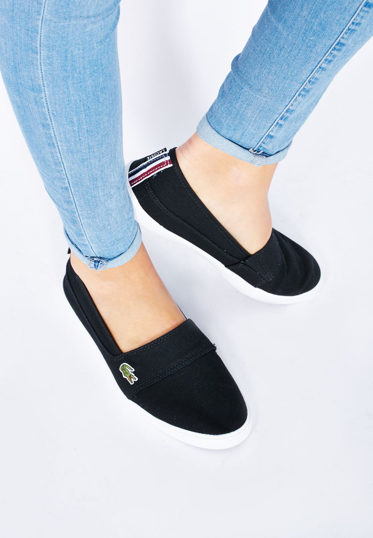 ff149f9afe7e4 Shop Lacoste black Marice TRC Slip Ons 30SPW0013-02H for Women in ...