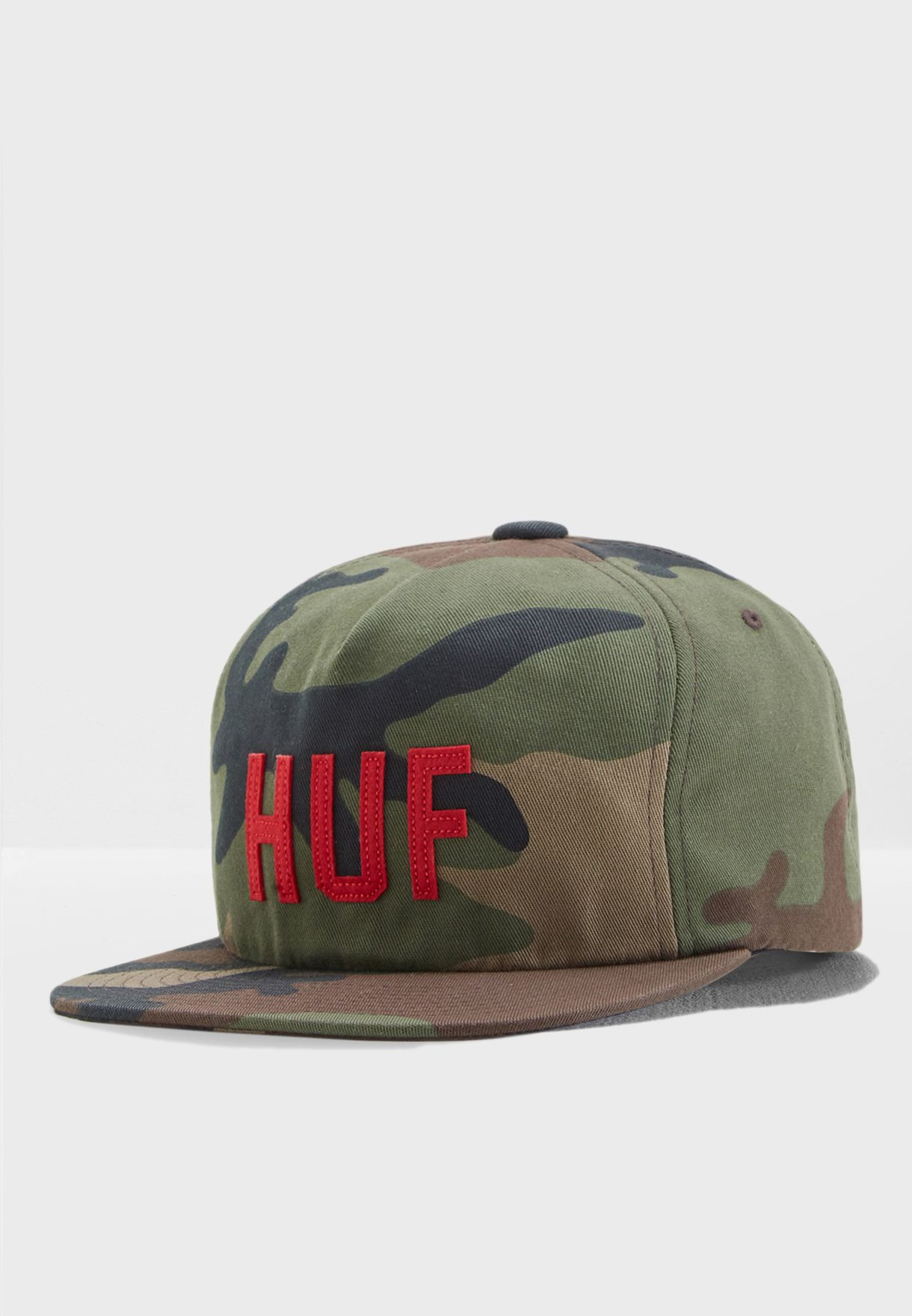 1e27febba0efb Shop HUF prints Corps Snapback Cap HT00261-WOODC for Men in Oman ...