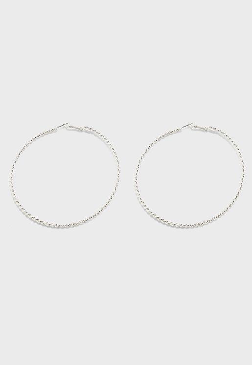 Oversized Twisted Hoop Earrings