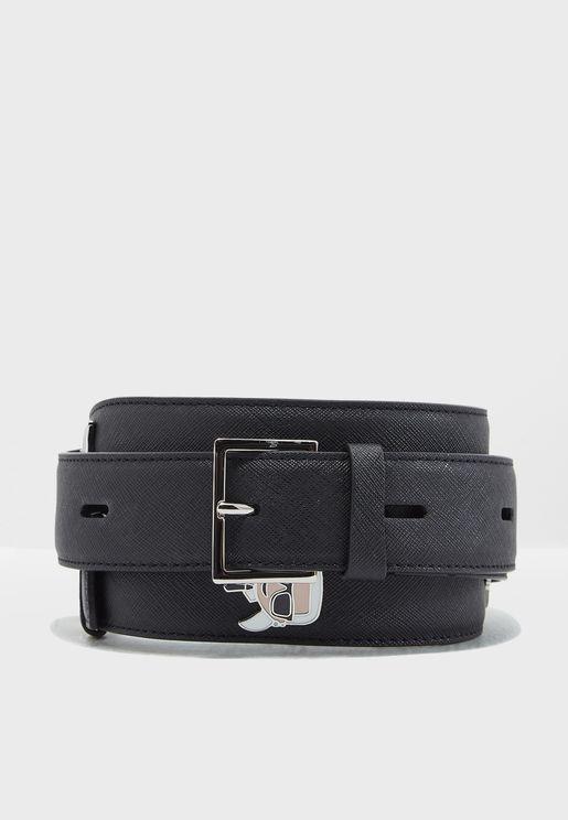 Ikonik Leather Shoulder Strap