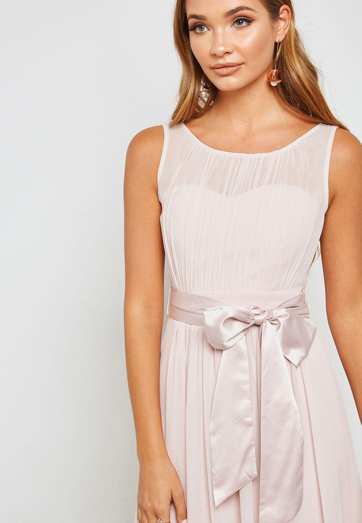 Satin Bow Detail Maxi Dress