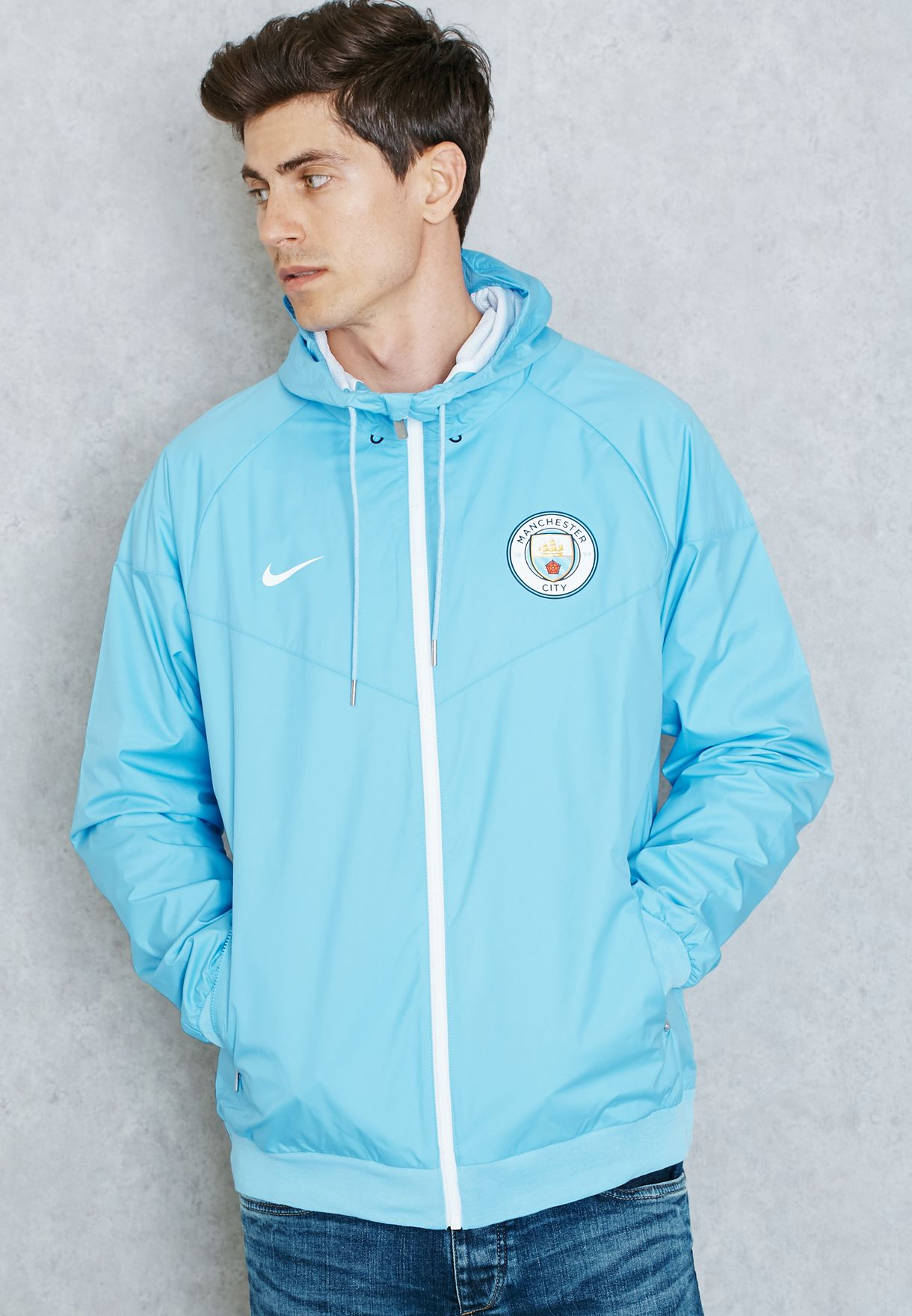 b83fc3cf2d Shop Nike blue Manchester City Windrunner 810300-488 for Men in UAE ...