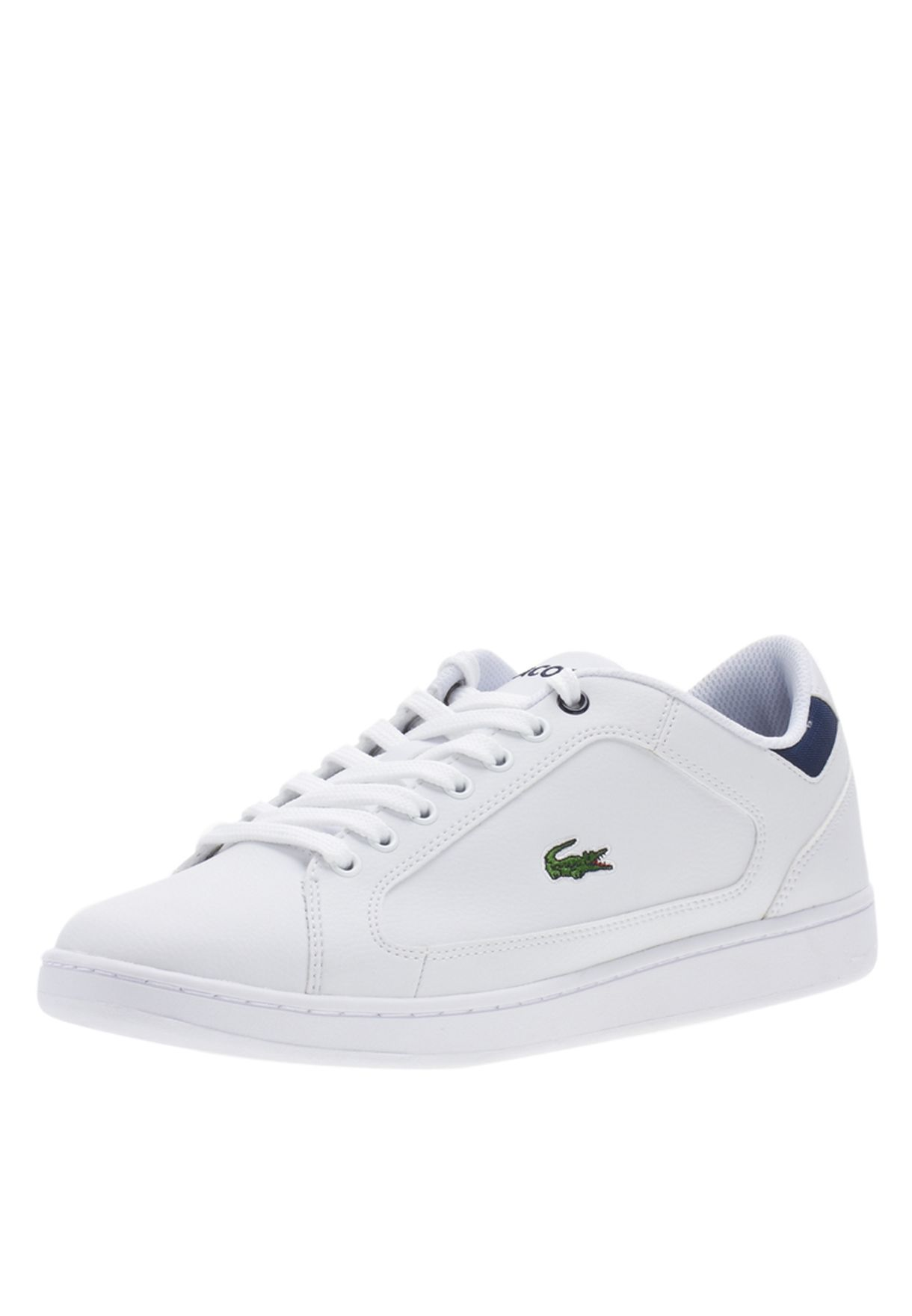 3ee444a50 Shop Lacoste white Nistos CI Spm Sneakers 24SPM1262-X96 for Men in ...