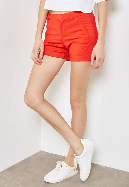 Roll Up Hem Shorts