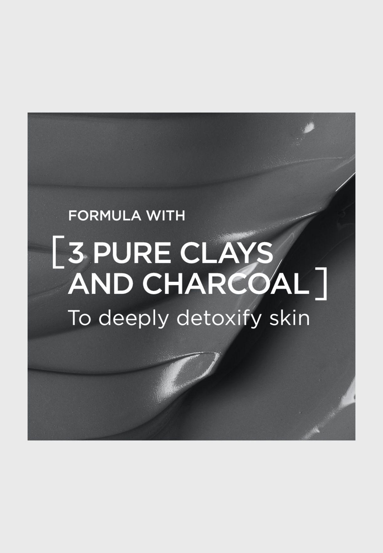 ماسك الطين النقي مع الفحم لنقاء البشرة