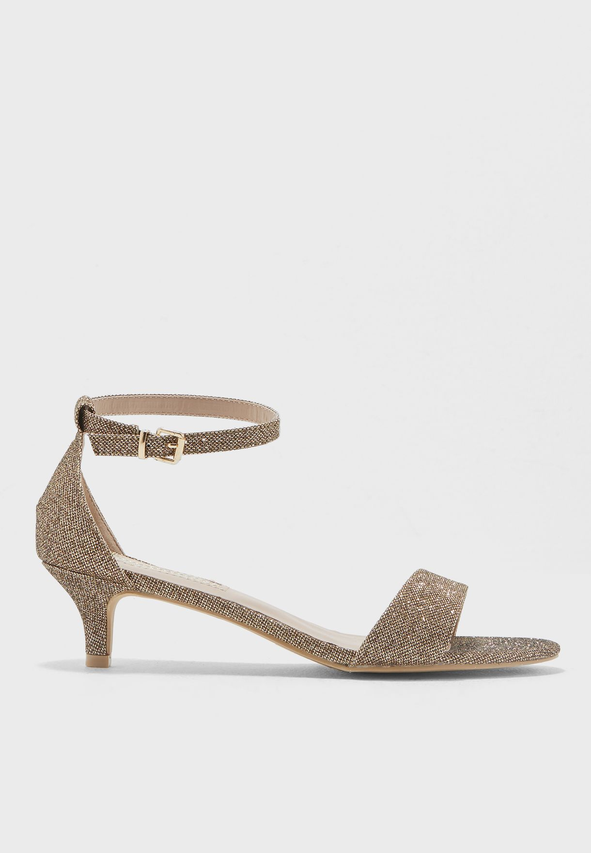 78ab6db77 Shop Dorothy Perkins gold Sundae Glitter Low Heel Sandal 19977224 ...