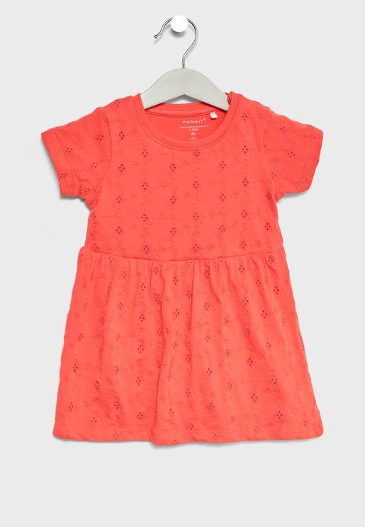 Infant Mesh Detail Bodysuit Dress