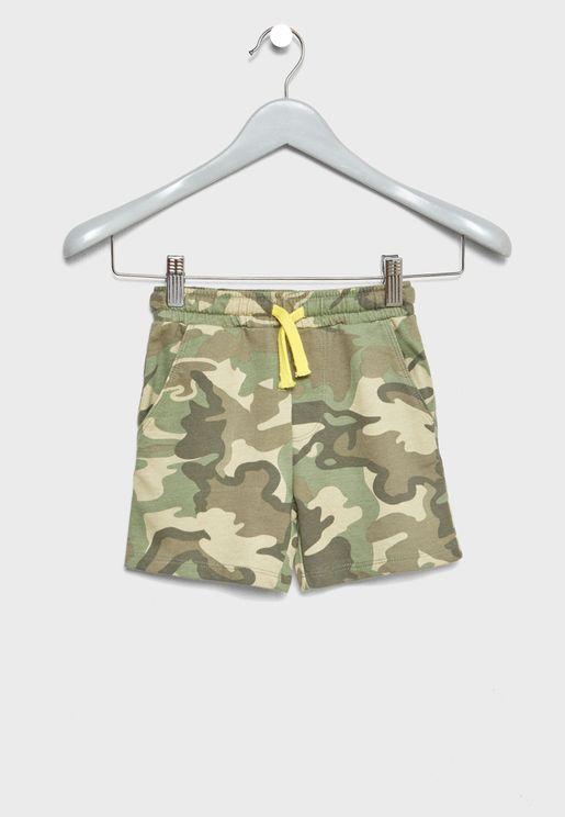 Infant Camo Print Shorts