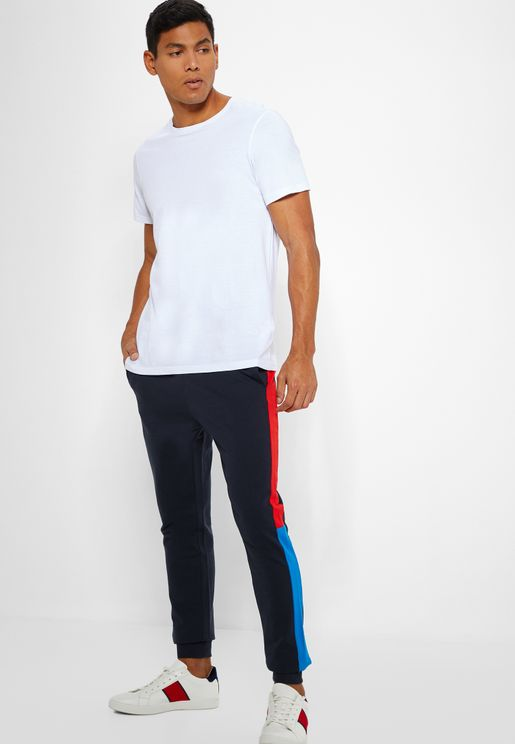 Colorblock  Cuffed Sweatpants