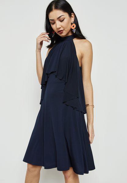 High Neck Layered Dress