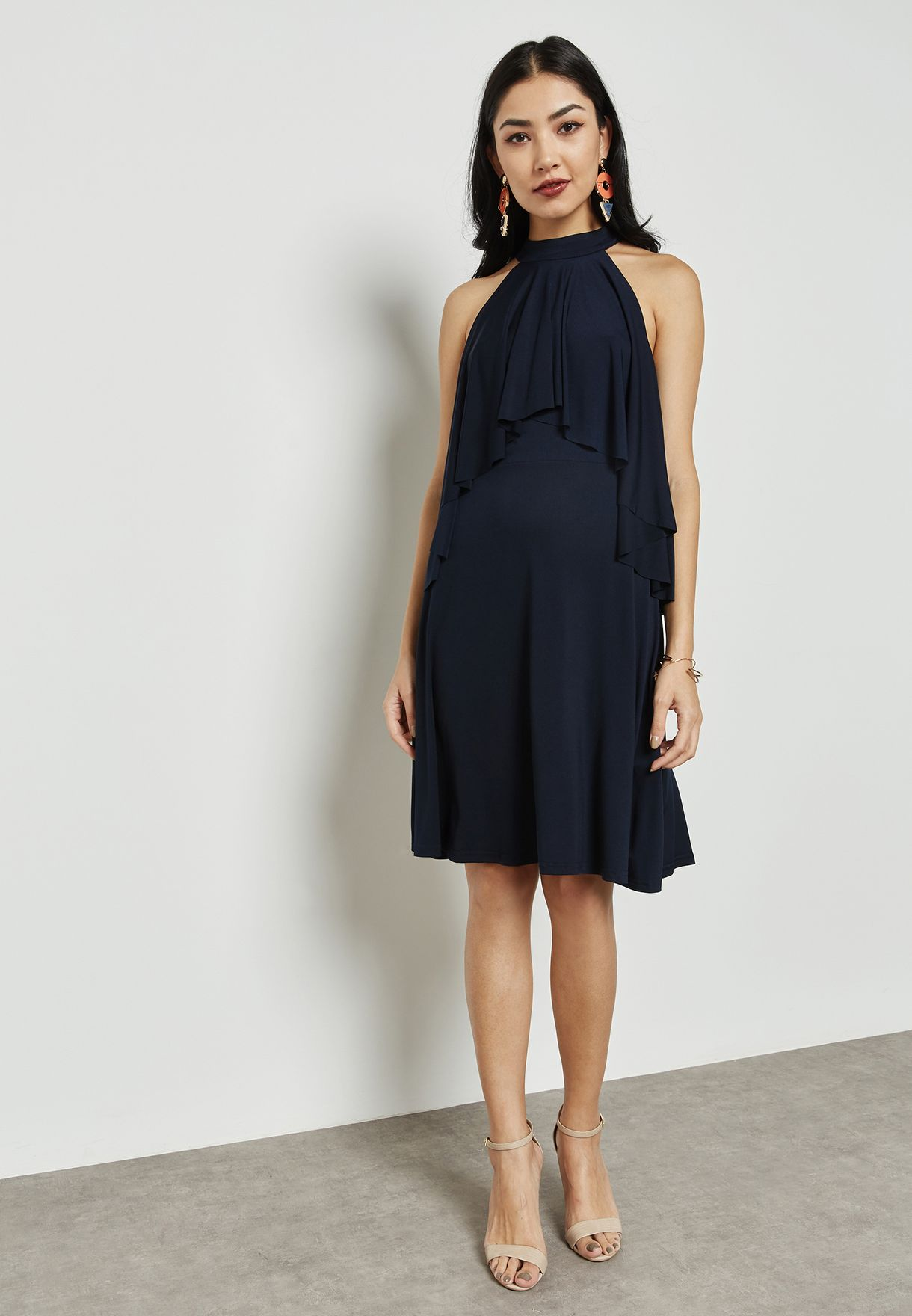 High Neck Layered Dress