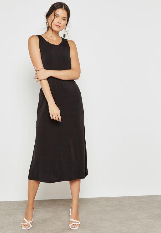 Side Slit Detail Dress