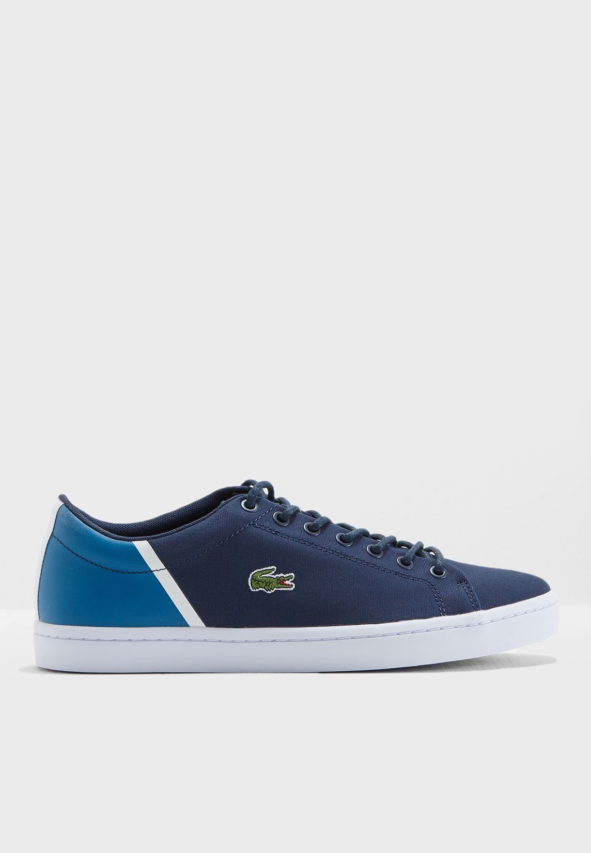 6304e244e Shop Lacoste navy Straightset Sneakers 735CAM0100-ND1 for Men in Qatar -  LA014SH42TBP