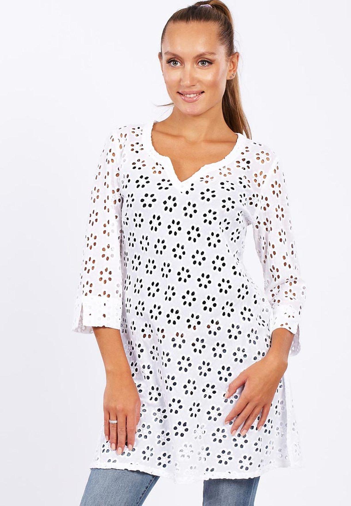 a571fac8652 Shop Adini white Tunic Casual Dress for Women in Qatar - AD103AT42TJD