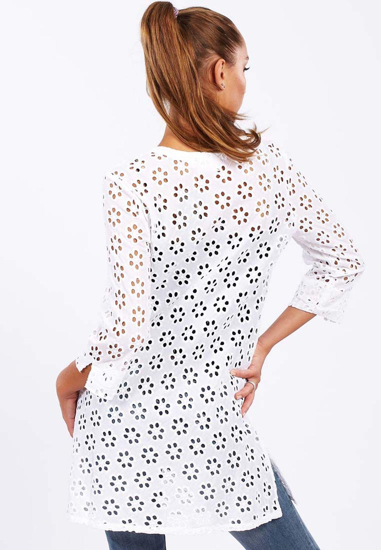 ffaae99c5d8 Shop Adini white Tunic Casual Dress for Women in Oman - AD103AT42TJD