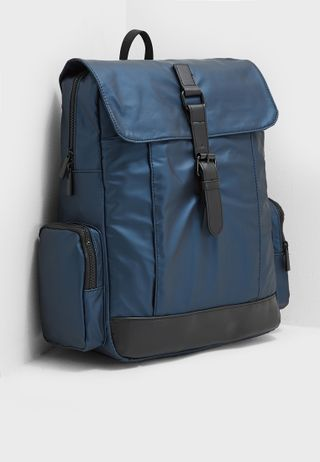 37025b974d27 Shop Ea7 Emporio Armani navy Train Foldable Backpack CC801-245002 ...
