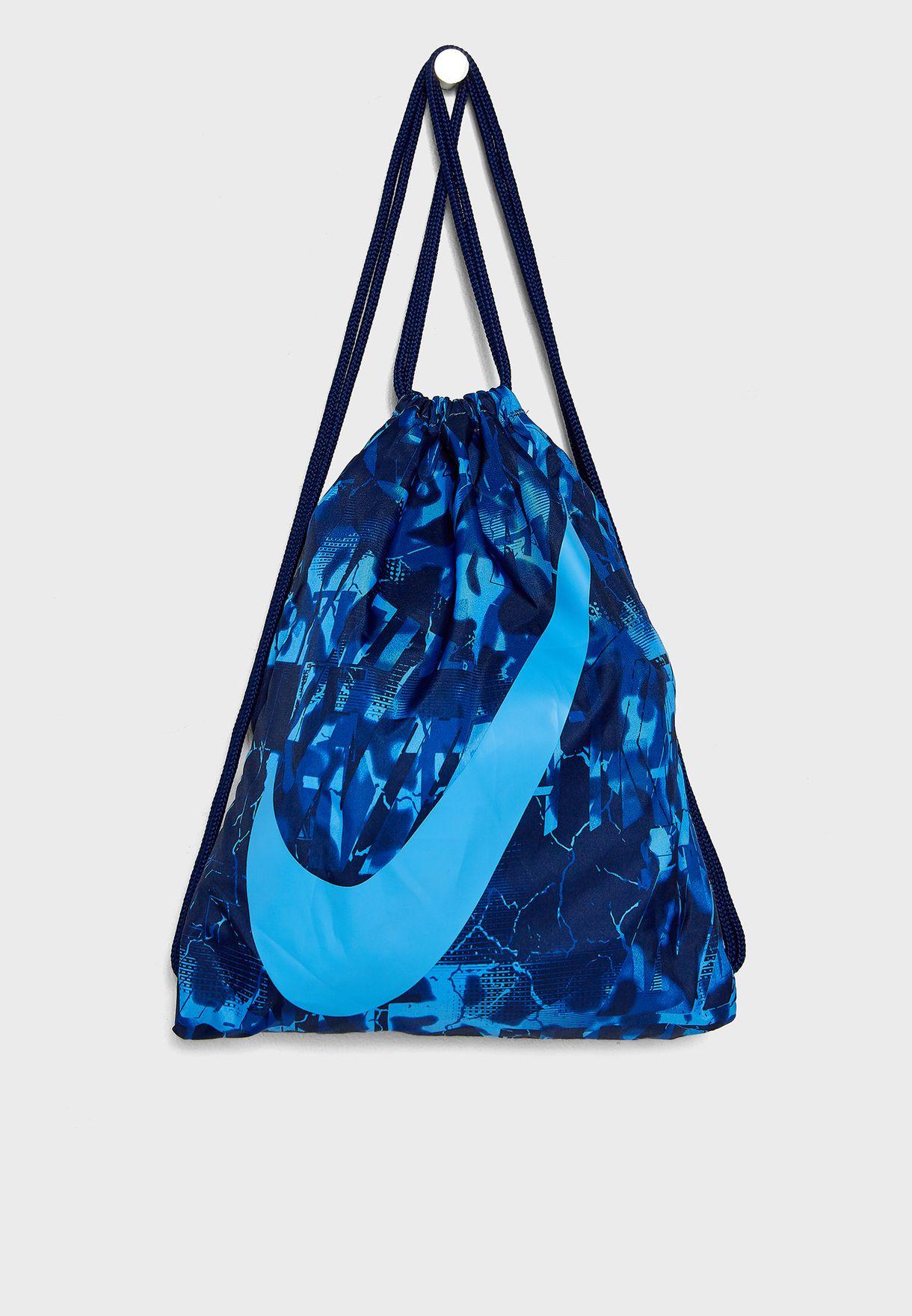 53218dadd0 Shop Nike blue Swoosh Gymsack BA5262-482 for Kids in Oman - NI727AC42YXL