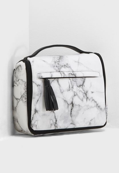 Marble Hanging Cosmetic Bag