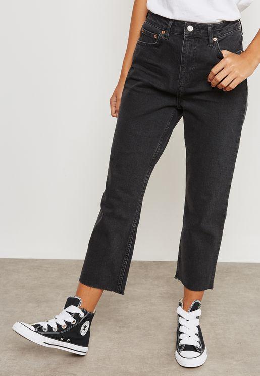 MOTO Straight Leg Mid Rise Jeans