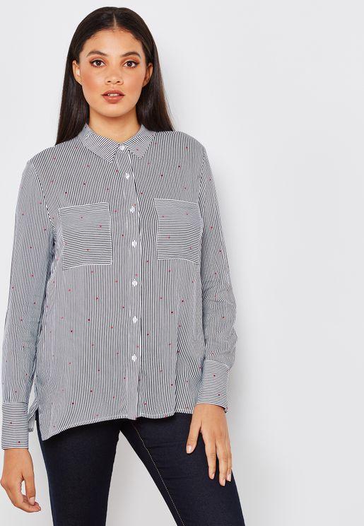 Polka Dot Striped Shirt