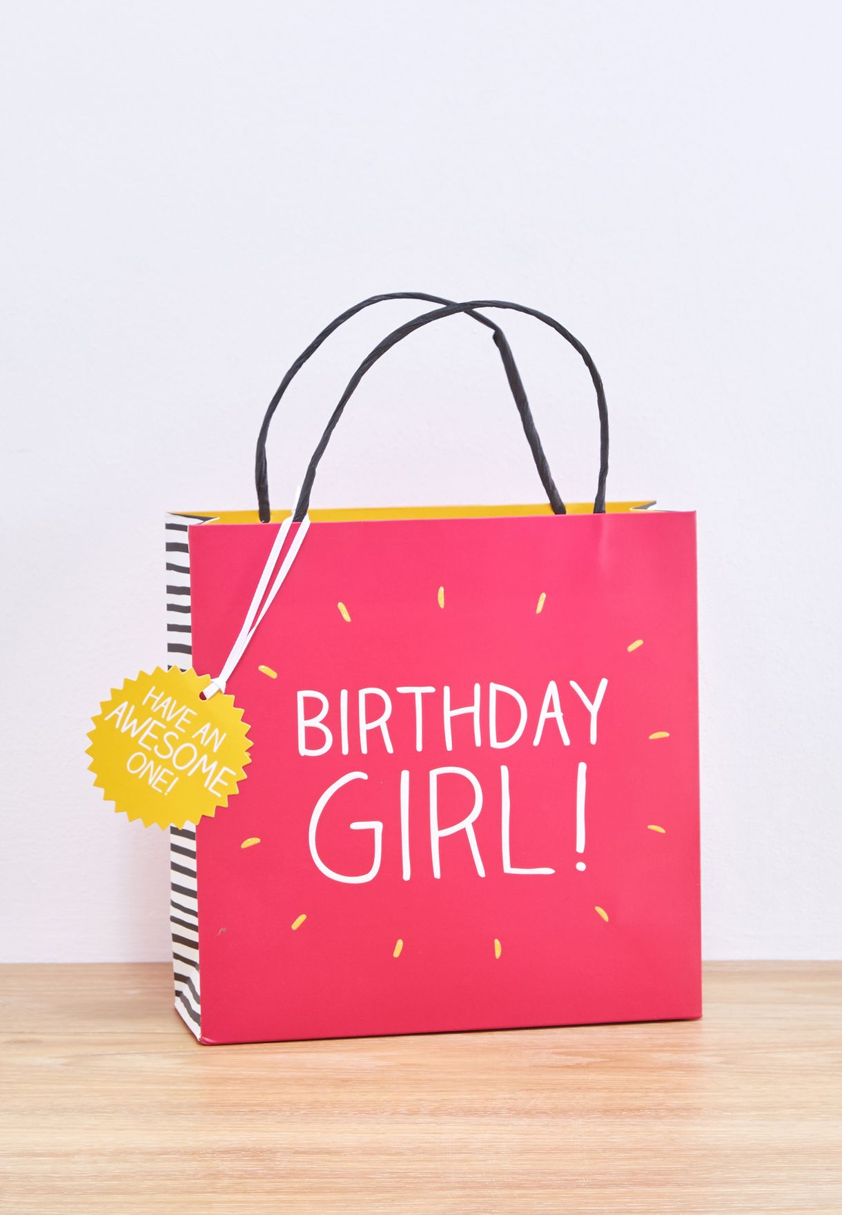 Shop Happy Jackson Prints Birthday Girl Gift Bag Small 3340303 For Women In Bahrain