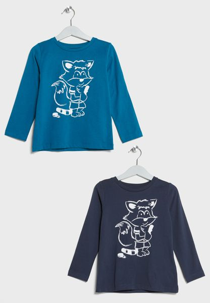 Little 2 Pack Animal T-Shirts