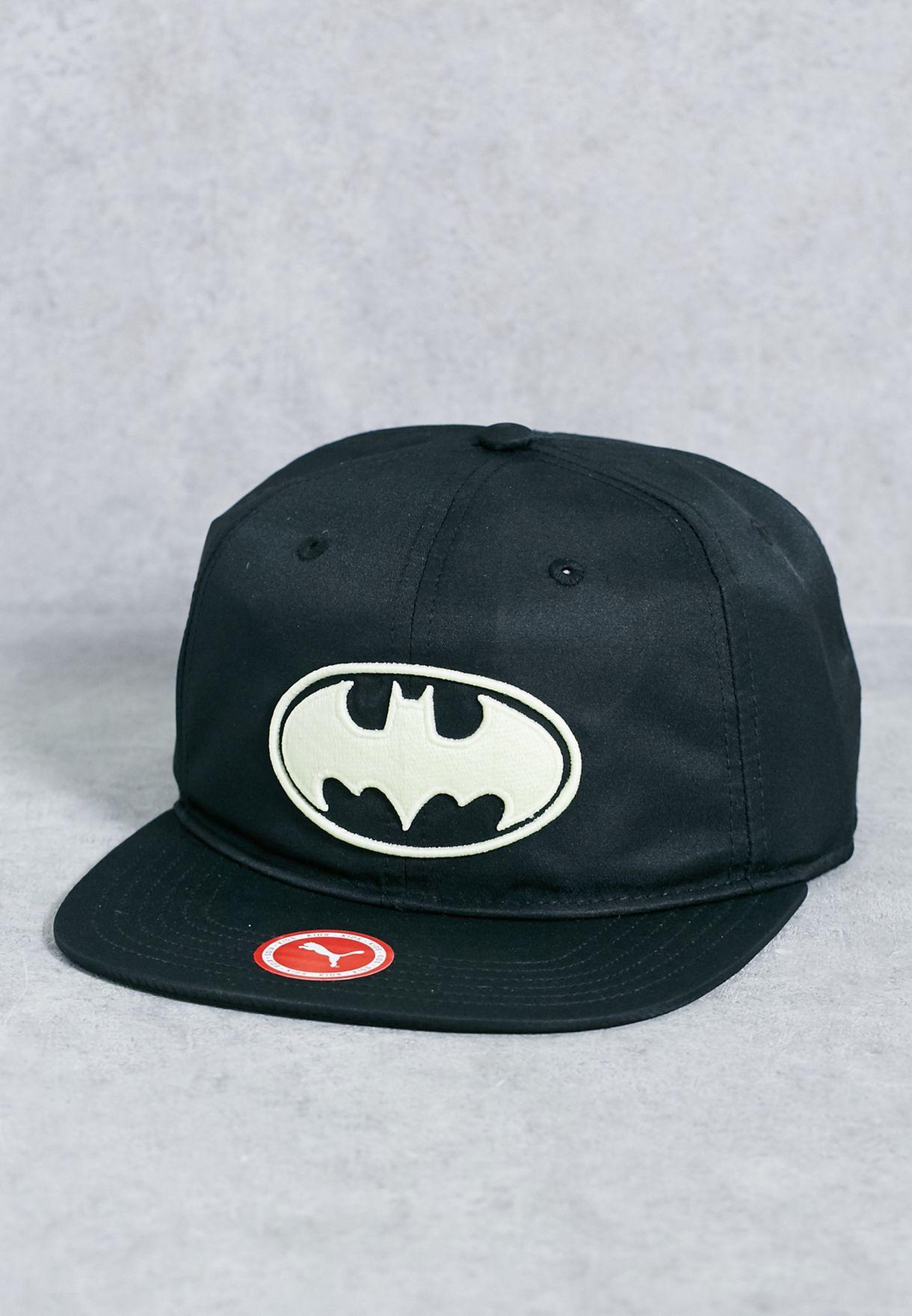 Shop PUMA black Batman Knight Cap 02119601 for Kids in UAE ... fb2df54aa97