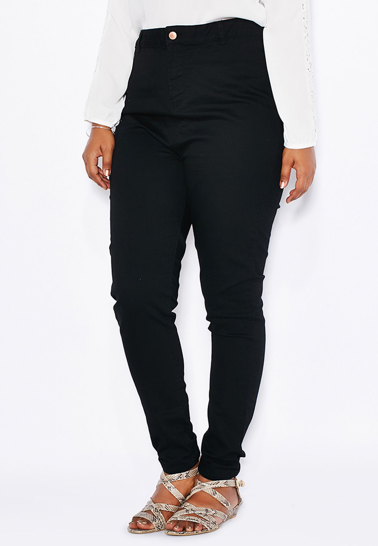 1c056f786bc13 Shop New Look Curve black Skinny Jeans 3440884 for Women in Qatar -  NE811AT42YGV