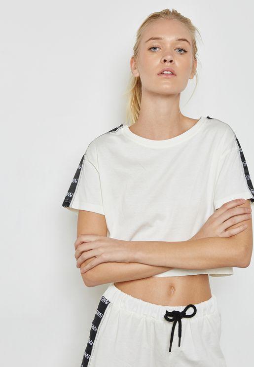 Logo Tape Crop T-Shirt