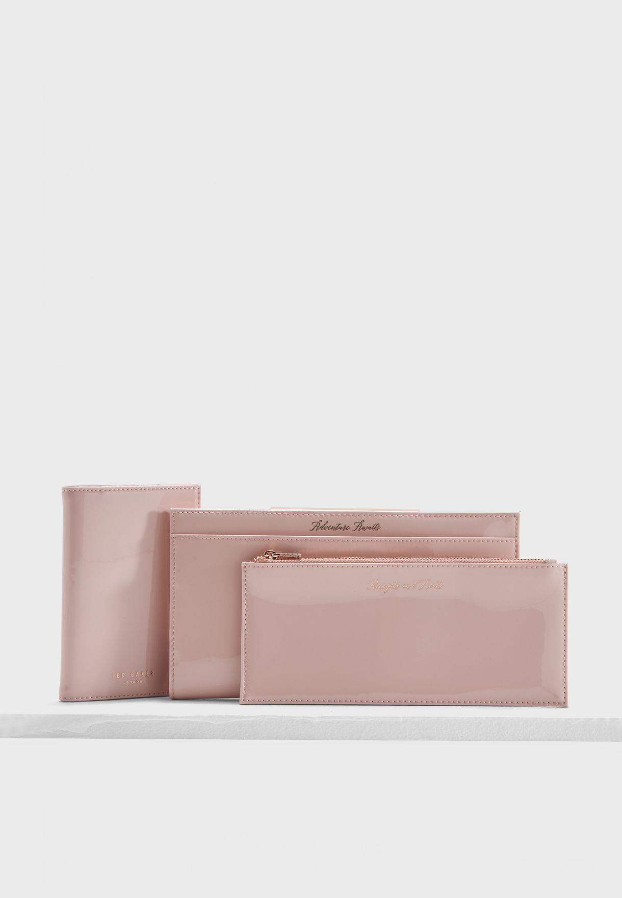 d0a2e4223db Shop Ted baker pink Kimberl Bar Detail Travel Purse 144652 for Women ...