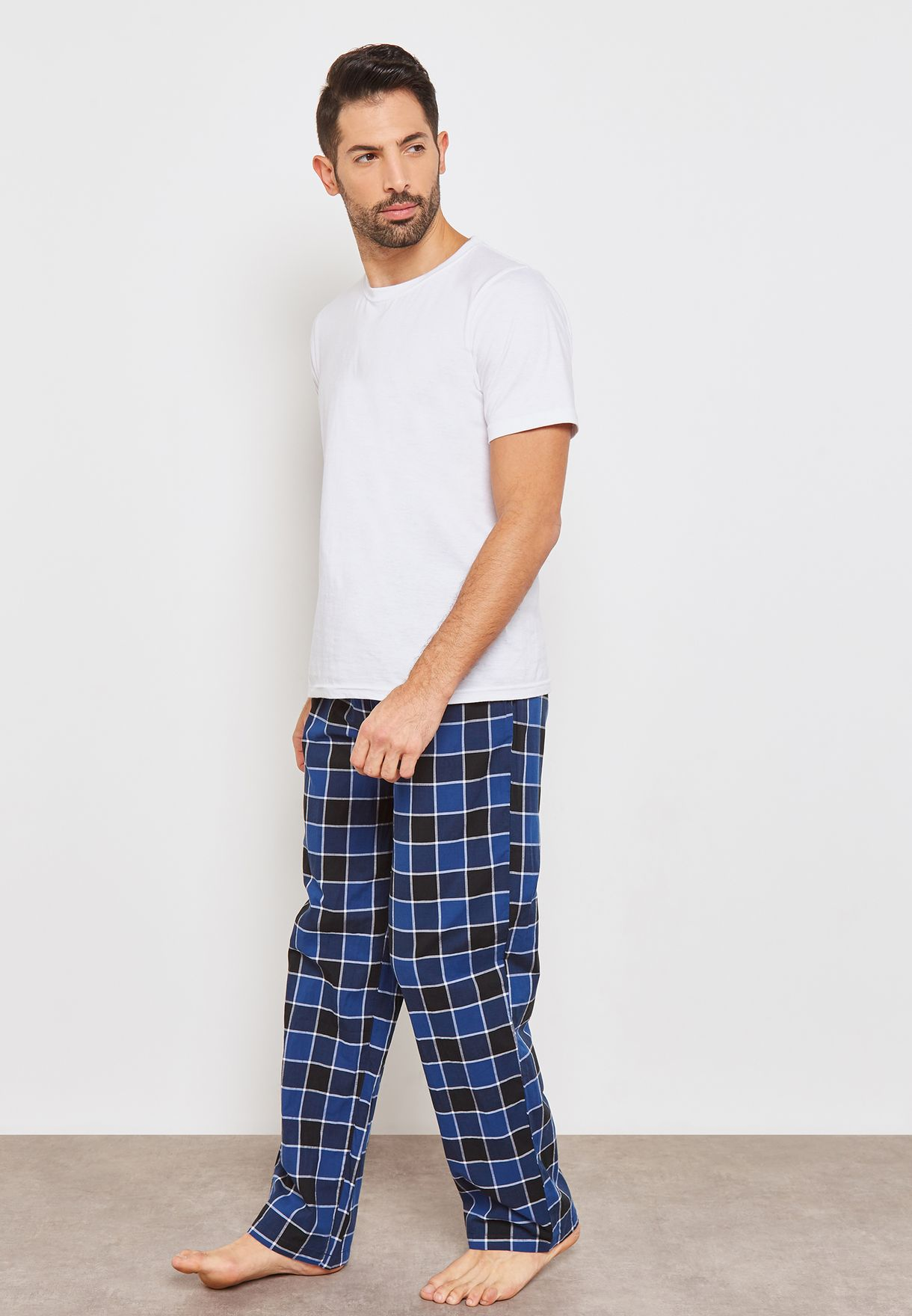 Kempt Checked Lounge Pants