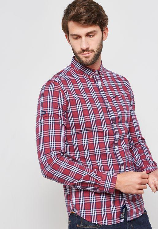 قميص اكسفورد بطبعات مربعات