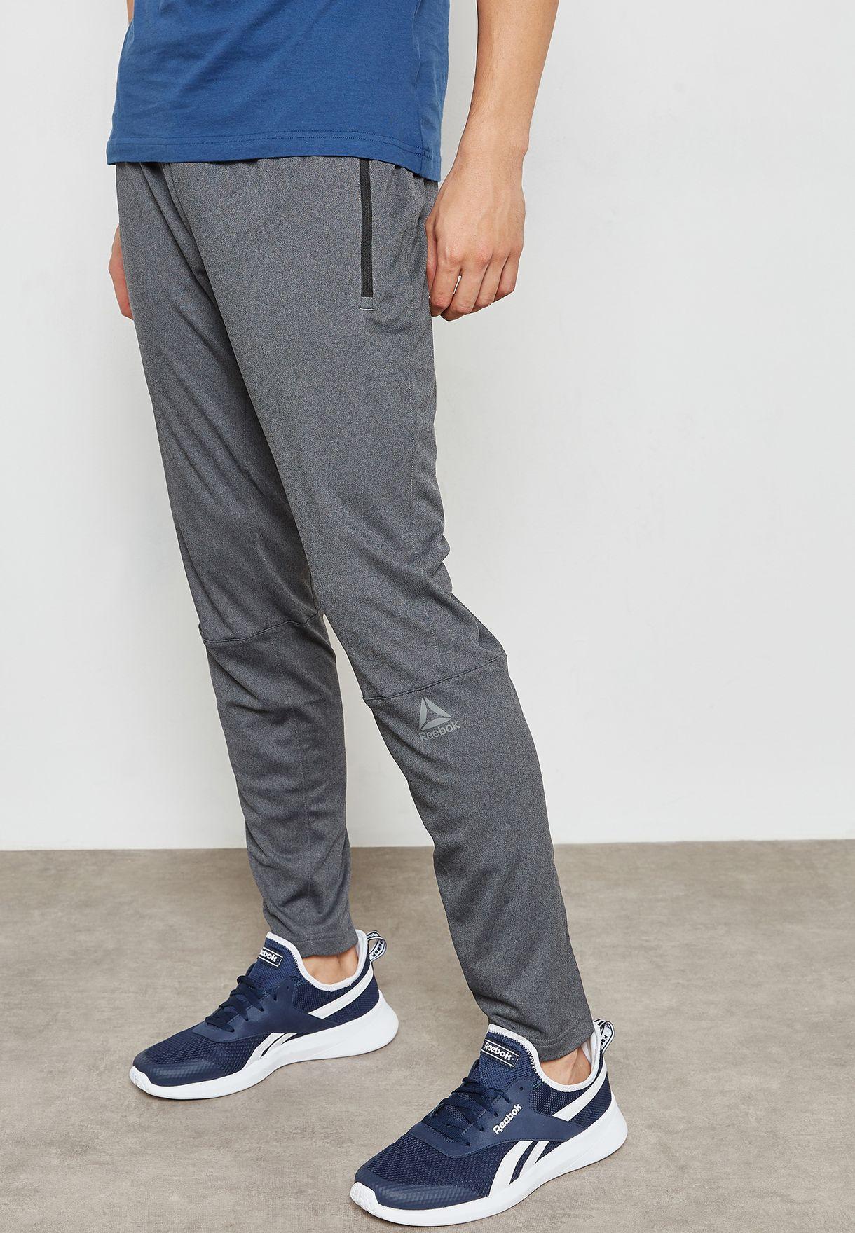 730e2bbfdac1 Shop Reebok grey Speedwick Knitted Sweatpants CF2908 for Men in UAE ...