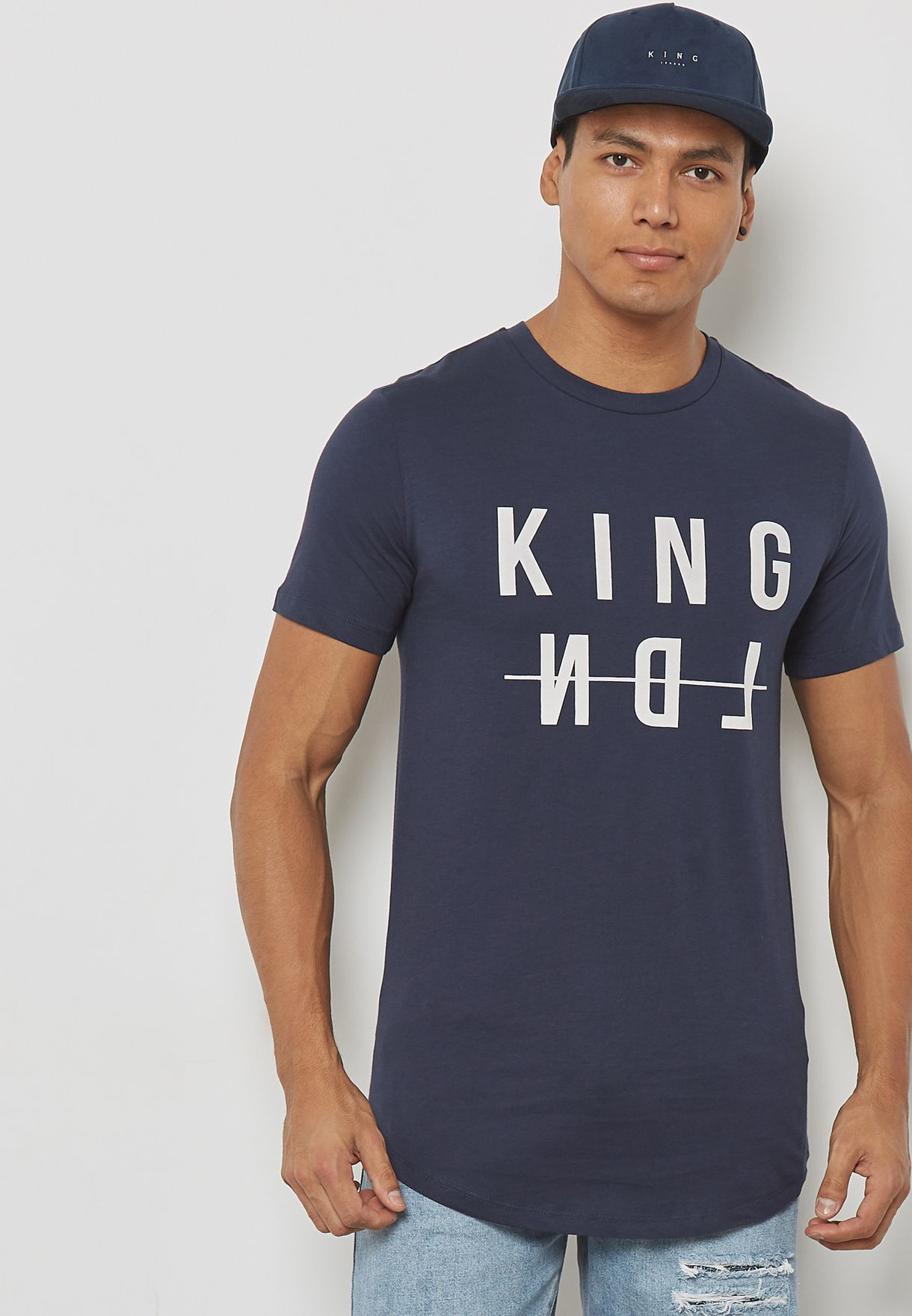 7a32a647fec Shop King Apparel navy Dalston T-Shirt SS18-DTI for Men in UAE ...