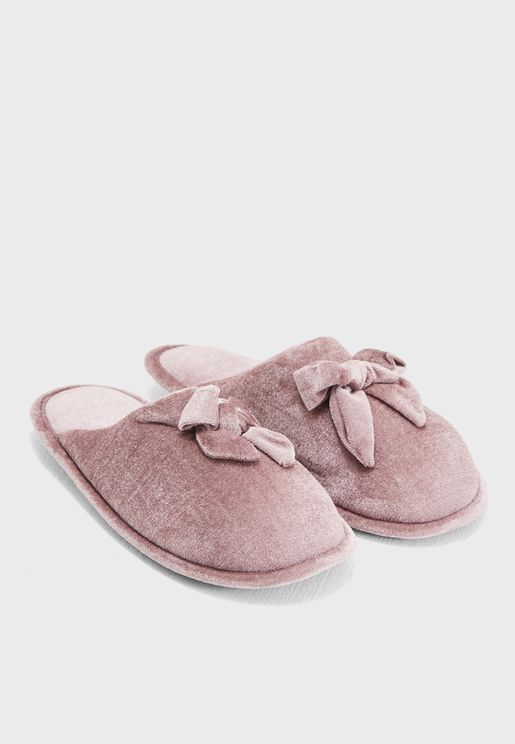 Bow Mule Slipper