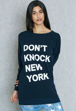 Slogan Longline Sweatshirt