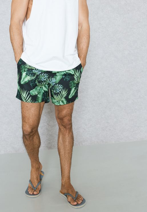 Tropical Printed Swimshorts