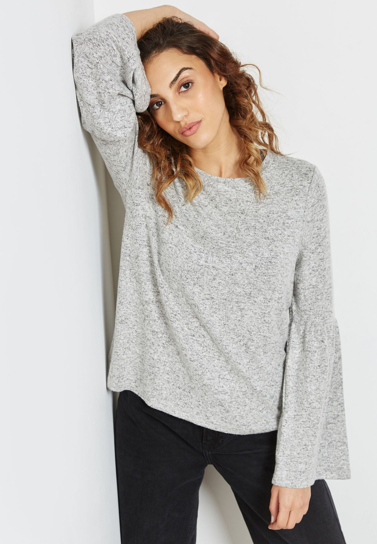 2e24804d Shop Only grey Oversized Sweater 15146092 for Women in UAE ...