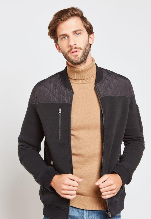Embossed Shoulder Jacket