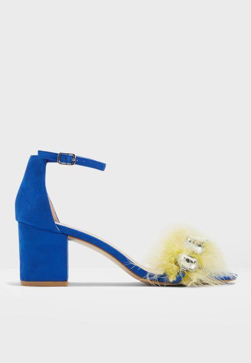 b4693d8f83f2 Subtle Jewel Feather Detail Heeled Sandal. Public Desire. Subtle ...